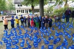 Fähnchenaktion in Trittau am 24. September 2019